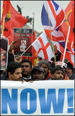 100,000 strong demonstration calling for an end to the war in the north of Sri Lanka , photo Paul Mattsson