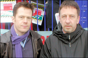 Ian Page and Chris Flood Lewisham Socialist Party councillors, photo Socialist Party