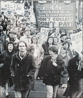 Thatcher was defeated on the issue of the poll tax