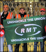 London Underground strike by RMT tube workers, photo by Paul Mattsson