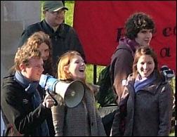 Cardiff Socialist Students campaign, photo Dave Reid