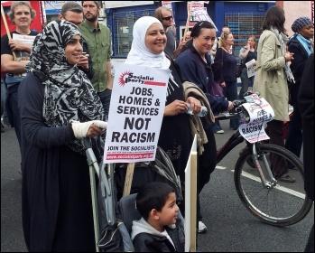 Anti-EDL demonstration in Walthamstow 1 September 2012, photo P Mason