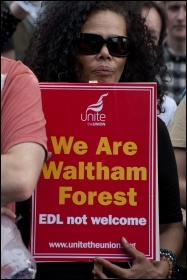 Anti-EDL demo, Walthamstow, 1.9.12, photo by Paul Mattsson