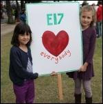 Anti-EDL demonstrators, Walthamstow, 1.9.12, photo Mina Boromand