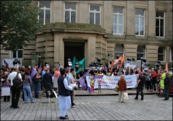 Bolton anti-cuts protest, photo by Matt Kilsby