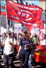 NSSN march to lobby TUC, Brighton, 9.9.12, photo Sarah Mayo