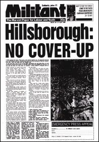 Militant newspaper, 21 April 1989 issue 941, on the Hillsborough disaster