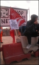 Construction workers' protest outside Paddington Crossrail site, 17.9.12, photo Neil Cafferky