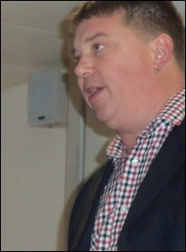 RMT President Alex Gordon addresses TUSC conference 2012, photo by Suzanne Beishon