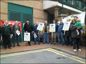 Leicester HMRC Nursery protest, 27.9.12, photo Karl Cross