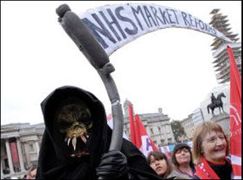 Death stalks NHS market reforms, photo Paul Mattsson