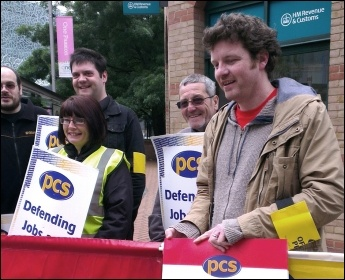 Leicester PCS strike action: workplace nurseries saved in HMRC through action by PCS members , photo Steve Score