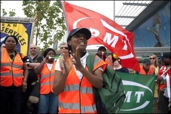 RMT protest July 2012, photo Paul Mattsson