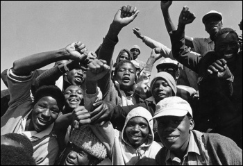 The explosion of struggle of the working class onto the scene of history that undermined Apartheid , photo Reflex
