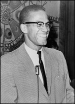 Malcolm X, 12 March 1964, photo Library of Congress. New York World-Telegram & Sun Collection, Ed Ford, World Telegram staff photographer