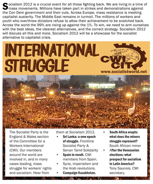 Socialism 2012: International struggle