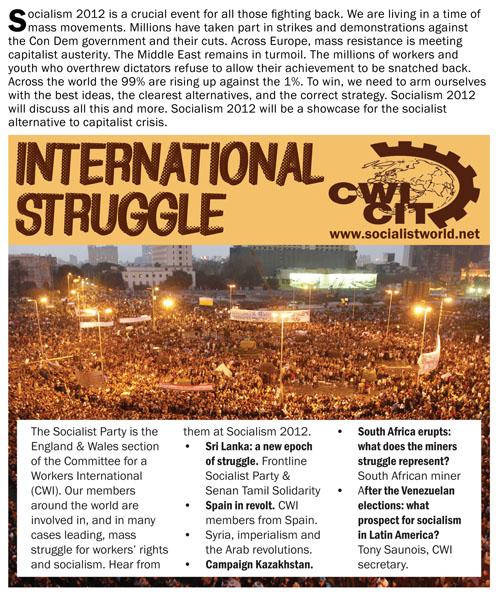 Socialism 2012: International struggle
