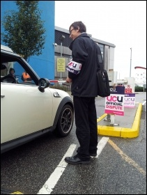 Lecturers' strike at UEL, 18.10.12