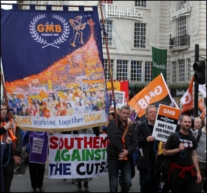 20 October 2012 TUC demo , photo Senan
