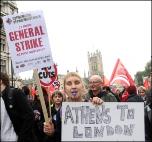 20 October 2012 TUC demo, London, photo Senan