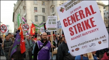 20 October 2012 TUC demo in London, photo Senan
