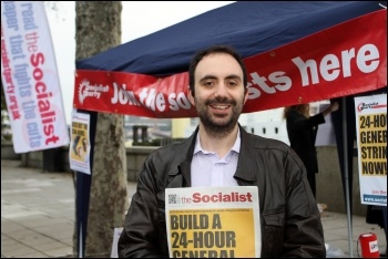 Alex Davidson, Manchester Central TUSC candidate 15 November 2012, photo Senan