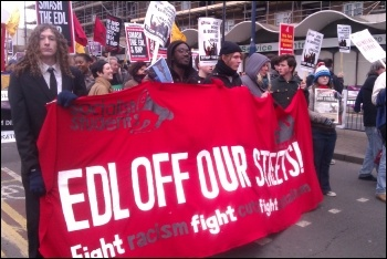 Demo against the EDL, Waltham Forest, 27.10.12, photo Sarah Wrack