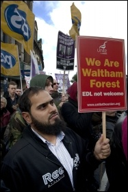 Demo against the EDL, Waltham Forest, 27.10.12, photo by Paul Mattsson