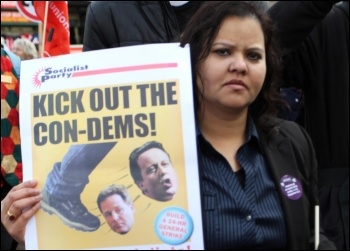 Kick out the Con-Dems: on the TUC demo 20 October 2012, photo Senan
