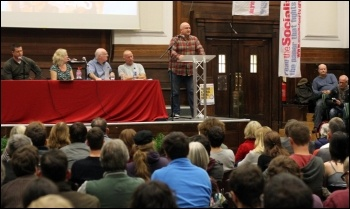Bob Crow speaking during the Socialism 2012 Saturday rally, photo by Senan