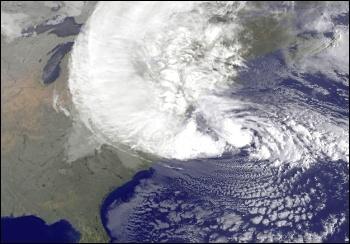The gigantic Frankenstorm hurricane Sandy has put thousands out of their homes, left millions without power, and claimed more than 100 lives across north eastern USA, photo NASA