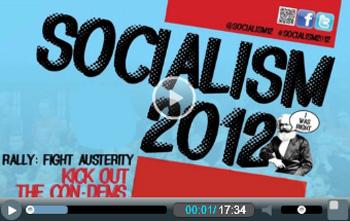 Socialism 2012 video splash