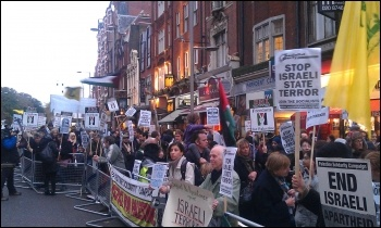 Gaza Protest November 2012, photo Socialist Party