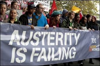 20 October 2012 TUC demo against austerity, photo Paul Mattsson