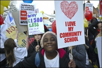 Haringey protest against academy school change, photo Paul Mattsson