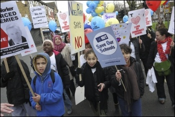Haringey protest against academy school, photo Paul Mattsson