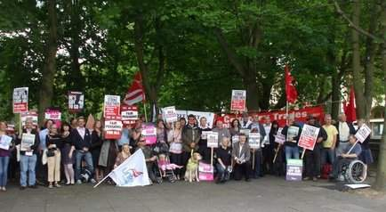 Coventry council workers demonstrating on 30th June 2011, photo by Coventry SP