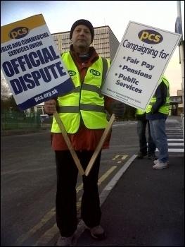 Dave Warren, PCS vice chair Swansea DVLA, photo by R. Job