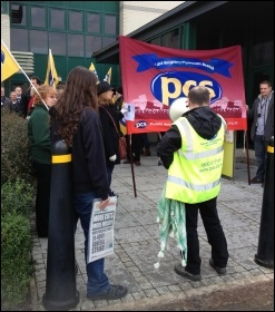 PCS members taking action in Plymouth, 30.11.12, photo by Steve Merritt