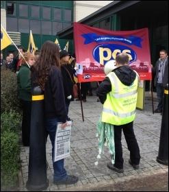 PCS demo outside Land Registry, Plymouth, 30.11.12, photo Steve Merritt