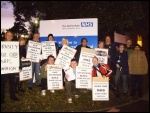 Protest outside Rotherham hospital, 9.1.13, photo Alistair Tice