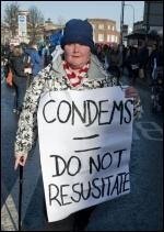 Marching to save Lewisham hospital, 26.1.13, photo Paul Mattsson