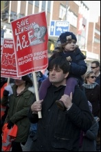 Marching to save Lewisham hospital, 26.1.13, photo Paul Mattsson