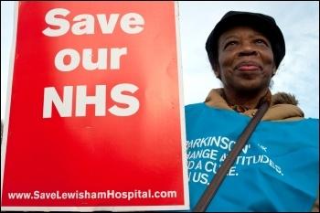 Marching to save Lewisham hospital, 26.1.13 , photo Paul Mattsson