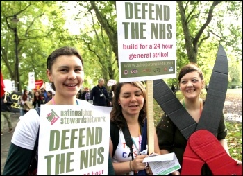 Nurses protest on the 20 October 2012 TUC demo