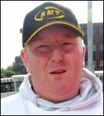 Daz Procter, RMT council of executives, standing as a TUSC candidate in the Eastleigh by-election 2013, photo TUSC