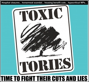Toxic Tories, graphic by Socialist Party