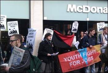Anti-workfare protest in Bristol, 3.3.12 , photo Bristol SP