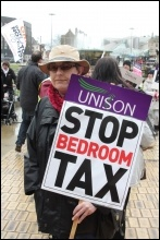 Hull protest against the Bedroom Tax, photo Lash