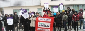 Strike at Horizon and Downsview special needs schools, 26.3.13